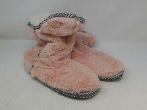 Dearfoams Women's Pink Bootie Slippers Size 11-12 US