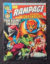 1977 RAMPAGE Marvel UK Weekly Magazine #4 VG 4.0 DEFENDERS Silver Surfer