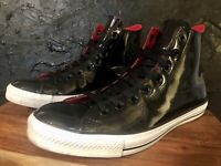 CONVERSE All Star Chuck Taylor Black Patent Leather High Top Size 11 sku 111131