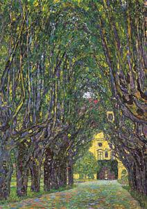 Gustav Klimt - Avenue - A2 size QUALITY Canvas Print Poster 42x59.4cm Unframed