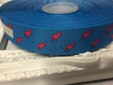 New 1 Metre Horse Print Polo Grosgrain Ribbon Designer 22mm Cakes Bow Dummy Blue