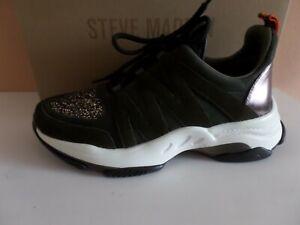 STEVE MADDEN Fashion-Sneaker,Gr.40(UK 7)olive,Glitzer,Metallic,wie NEU!