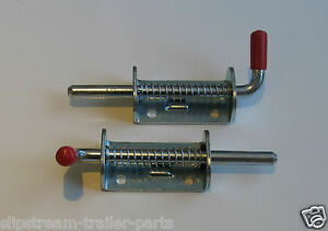 2 x SPRING LATCH TAILGATE BOLT,TRAILER PARTS TO FIT,HORSE BOX,IFOR WILLIAMS,ERDE