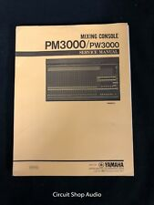 Original Yamaha PM3000 / PW3000 Mixing Console Service Manual