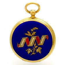 Ladies Breguet Pendant Watch   18K Gold Enamel Hunter Case with Keys CA1890