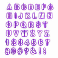 40pc Alphabet Fondant Cake Biscuit Letter Number Baking Cutters Cookie Mould hot