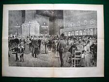 Incisione enorme - A Roma nel 1885, La Musica in Piazza Colonna