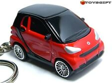 RARE! KEY CHAIN RED BLACK SMART FORTWO PASSION COUPE NEW CUSTOM PAINT KEY RING R
