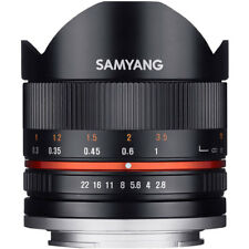 Samyang 8mm F2.8 UMC Fisheye II Lens in Fuji Fit (Black)