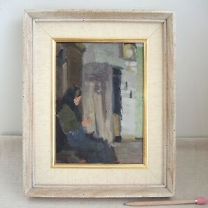 Kurt Haase Jastrow Oil Painting Figure Interior German Impressionist 1920 Berlin