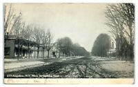 1907 Main St, then a Dirt Road, Angelica, NY Postcard