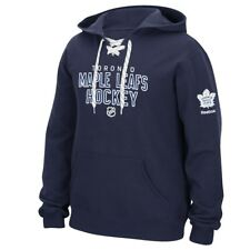 """NHL Reebok """"Stitch Em Up"""" Lace Up Team Logo Pullover Hoodie Collection Men's"""
