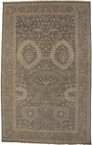 Handmade Brown Floral Design 5'6X8'9 Transitional Oriental Rug Home Décor Carpet