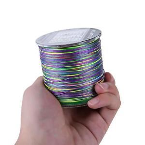 8 Strands Braided Fishing line 300m Multi Color Multifilament PE braid line