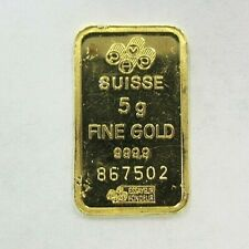 5 GRAM PAMP SUISSE 999.9 SOLID GOLD LADY FORTUNA BAR FREE SHIPPING!