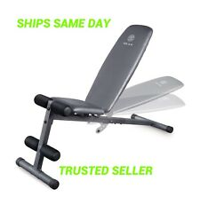 Weider XR 5.9 Adjustable Slant Workout Bench with 4-Roll Leg Lockdown