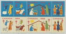 Canada Christmas Seal 1959 Block of 10 MNH Charity Cinderella (2)