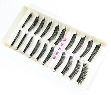 10 Pairs Mink Thick Sparse Cross False Eyelashes Fake Eye Lashes Wispy Makeup