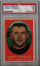 1958 Topps CFL Danny Nykoluk #72 PSA 3 P263