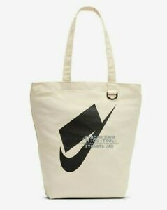 Nike Heritage NSW Tote Canvas Bag Natural/Tan/Beige BA6027-130 One Size NWT