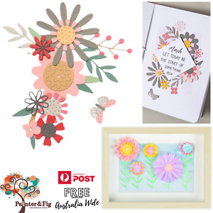Sizzix Flowers Dies - Flowers, Leaves, Butterfly & Foliage Designs, Bold Flora