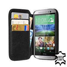 für HTC One M8/One 2 Bookstyle Hülle Tasche Cover, schwarz