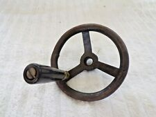 Antigue Forged Steel Hand Crank Wheel With Celuloid Handle Industrial Age 4-1/2""