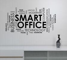 Smart Office Word Cloud Wall Decal Inspirational Vinyl Sticker Art Decor hq87