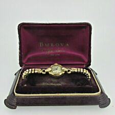 Vintage Bulova 6AH 17J Swiss 10k Rolled Gold Plated Ladies Watch with Box