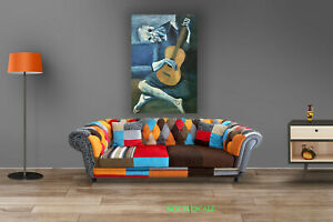 Pablo Picasso The Old Guitarist CANVAS PRINT, ROLLED,STRETCHED or FLOATING FRAME