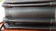 Dell black leather laptop case briefcase shoulder bag