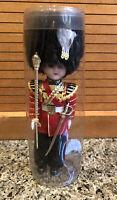 "Vintage British Royal Guard Doll w Sleepy Eyes - Hard Plastic - 6-3/4"""