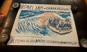2021 OHANA FESTIVAL PEARL JAM POSTER EDDIE VEDDER DOHENY BEACH RAYMOND PETTIBON