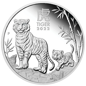 2022 Australia PROOF Lunar Year of the Tiger 1/2oz Silver 50c Coin Series3
