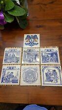 Delft Tile.  Lot of seven Pharmacy tiles