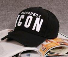 Cappello uomo Dsquared icon nero baseball con visiera t shirt f97d4ed5a61c