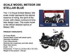 Genuine Royal Enfield Meteor 350 Stellar Blue 3D Scale Model