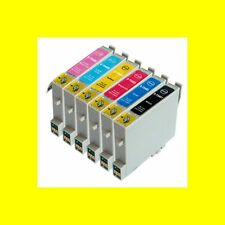 6 x COMP. CARTUCCE PER EPSON STYLUS PHOTO r200 r210 r300 rx300 sostituisce t0481 - 6