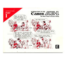 Canon Introduction to the Ae-1 Part I *Original Manual*