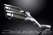 "Delkevic 8"" Mini Carbon Round Mufflers - Honda VFR800 V-Tec 2002-2009 Exhaust"