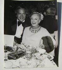 1970's Johnny Bench & Phyllis Diller Restaurant Dinner Photo