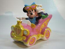 Disney Minnie Mouse Porcelain Car Coin Bank Vintage 80's Rare