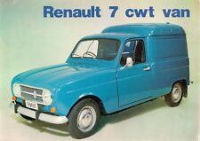Renault 4 Van 7cwt 1972-73 UK Market Foldout Sales Brochure