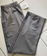 Nwt Liz Claiborne Pants Knit Grey Exercise Elastic Waist Snap Pant Hem Size Xl