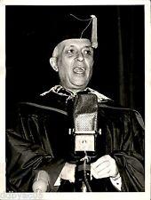 1957 VINTAGE INP PHOTO KEIO WASEDA UNIVERSITY HONORARY MINISTER JAWAHARLAL NEHRU