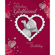 ME TO YOU FAVOLOSA Ragazza sulla tua carta di Compleanno Rosso Amore Cuori Tatty Teddy
