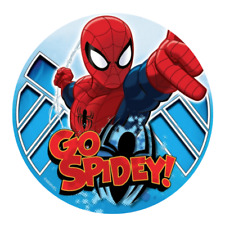Spiderman Edible Birthday Party Cake Decoration Topper Round Image