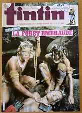 BD Comics Magazine Hebdo Journal Tintin No 35 40e 1985 La Forêt Emeraude