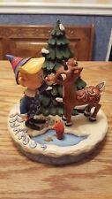 Jim Shore Rudolph traditions 2008 Hermey, Christmas tree & Rudolph  #4009802 MIB
