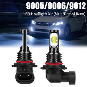 LED Headlight Kit 9012 White Bulbs High / Low Beam for Chevy Impala 2014-2015